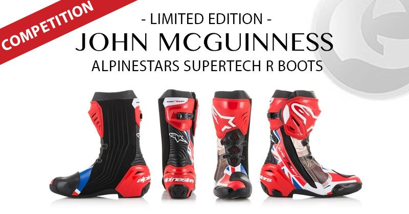 The Winner of the Limited Edition John McGuinness Alpinestars Supertech R Boots has been drawn…